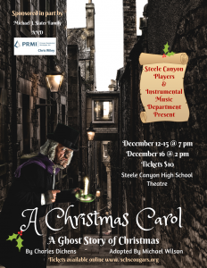A Christmas Carol - A Ghost Story of Christmas @ Steele Canyon High School Theatre