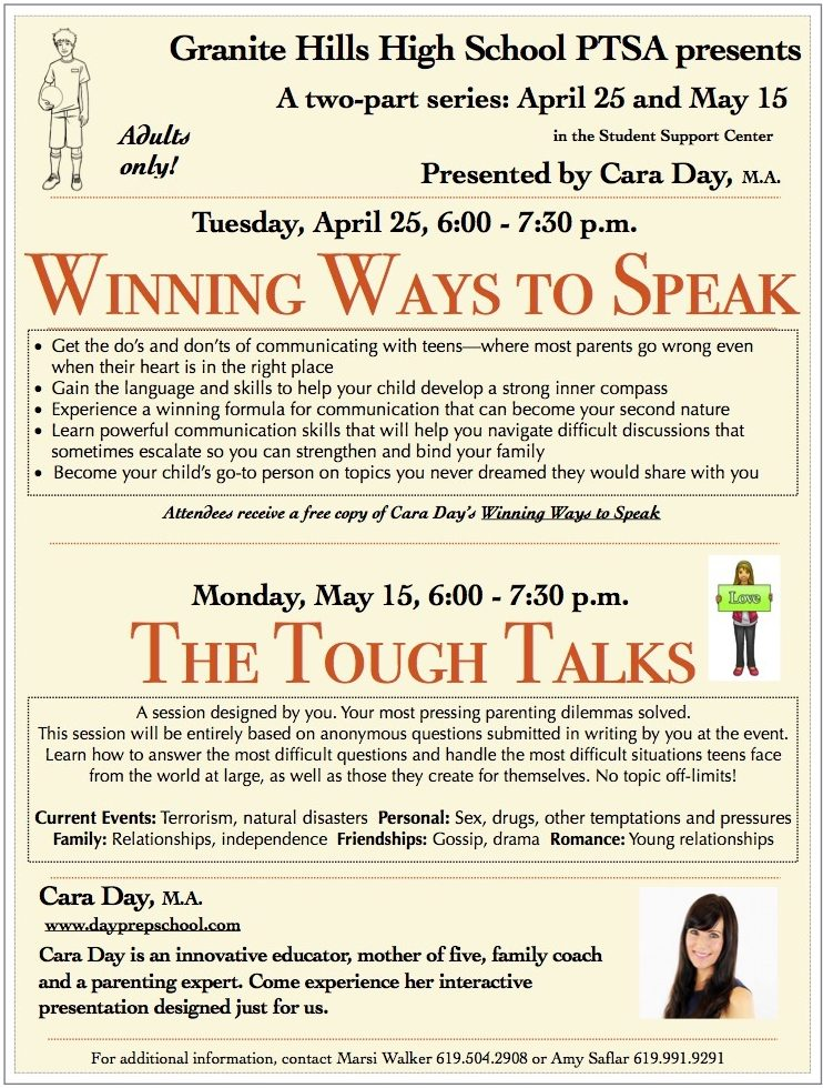 Cara Day Parenting Workshops