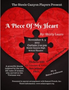 "The Steele Canyon Players Present ""A Piece of My Heart"" @ Steele Canyon High School Theatre"